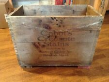 Antique advertising Cabots Creosote Stains LARGE wooden box