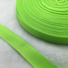 """New 50 Yards Length 3/4"""" 20mm Width Green Sewing Nylon Webbing Strapping craft A"""