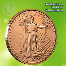 St. Gaudens 1 oz .999 Copper Round