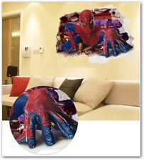 Spiderman wall stickers for kids rooms children vinilos decoracion infantil
