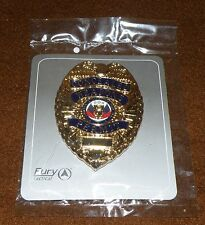 Concealed Weapons Permit Badge Clasp and Pin Badge Fury Tactical Gold Tone