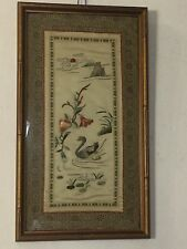 "Chinese Embroidery On Silk.19""x10"" Bird&flowers.C12pics 4 detail&size.MAKE OFFER"