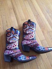 Nomad Multicolor Monet Cowboy Rainboots. Nwob Size 10