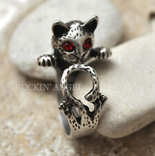 Antique Silver Plt Cat Cute Tail Ring  / Thumb Ring Adjustable ladies Men gift