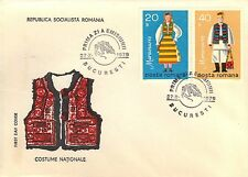 ROMANIA FIRST DAY COVER 1979 REGIONAL COSTUMES