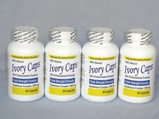 IVORY CAPS PILLS GLUTATHIONE SKIN WHITENING 1500 MG THISTLE - 4 BOTTLES