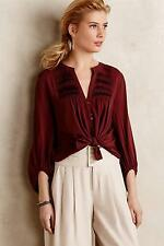 New Anthropologie Pintuck Peasant Blouse Sz 4 Size S NIP Top by Maeve