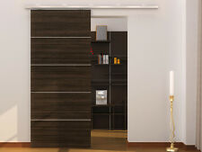 "79"" Aluminum Modern Barn Wood Sliding Door Hardware Pocket Door Track Closet Set"