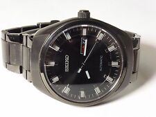 Seiko Men's SNKN43 Analog Display Mechanical Automatic Self-Wind Black Watch