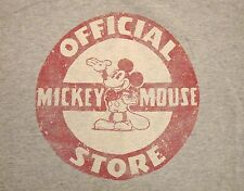 Official Mickey Mouse Store Disney World Disneyland Gray Ringer T Shirt S