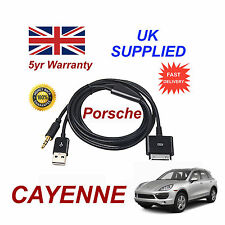 PORSCHE CAYENNE CDR-31 Sistema Audio iPhone 3GS 4 4S IPOD USB & AUX Cavo Nero