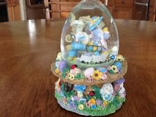 "Spring Water Dome Music Box, Egg Shaped, ""Peter Cottontail"", New"