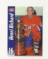 Molson Export Autographed Hockey Card Henri Richard Montreal Canadiens