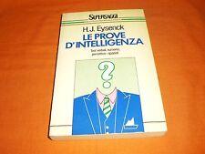 h. j. Eysenck  Le Prove D'intelligenza test verbali numerici percettivo spaziali