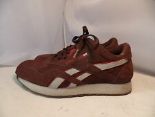 Reebok Mens 7.5 Classic Sport Brown Suede Sneakers Running Shoes 80's style