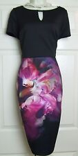 COAST NATASHA PRINT MINA FLORAL STRETCH JERSEY DRESS SIZE 12 BNWT RRP £109