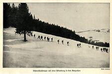 1914/15 Winterfeldzug Karpathen * Schneeschuhtruppe auf einer Erkundung *  WW1