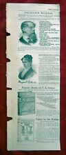 VINTAGE AD LADIES HOME JOURNAL PREMIUMS BOOKS BY DICKENS, OLIVER OPTIC, ETC.