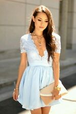 Missguided Light Blue Ballerina Skater Dress - Size 6/8 uk