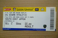 Tickets: 2006 FA CUP 3rd RD REPLAY- LEEDS UNITED v WIGAN ATHLETIC, 17th Jan