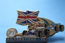 RARE F1 RACECAR  SILVERSTONE 95 FERRARI blue flash PIN BADGE BY MIAMI