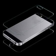 For iPhone 5 5S Front and Back Premium Real Tempered Glass Film Screen Protector