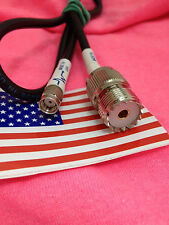 "RP-SMA MALE  to PL-259 SO-239 Female Jack jumper pigtail Cable RG58 20""  USA"