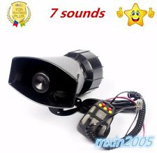 7 Sound style 100W Car Warning Siren Alarm Police Ambulance loudspeaker with MIC