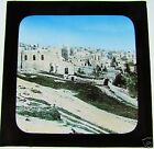 COLOUR Magic Lantern Slide BETHLEHEM FROM THE CONVENT C1900 ISRAEL