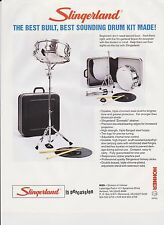 VINTAGE AD SHEET #2265 - SLINGERLAND DRUM KIT w/HOHNER