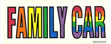 "LGBT Gay & Lesbian Rainbow Pride Window / Car Sticker FAMILY CAR 8"" x 3.5"""