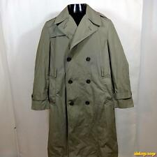 1993 Vtg US Marines USMC Military RAINCOAT Rain Trench Coat Mens 40 Sage green