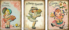"""9 """"EASTER"""" SPRING CHILDREN HANG / GIFT TAGS FOR SCRAPBOOK PAGES (28)"""