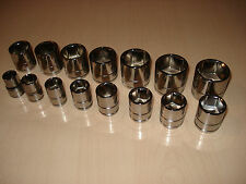 BLUE POINT 3/8  DRIVE SHALLOW SOCKETS 10mm TO 24mm - AS SOLD BY SNAP ON