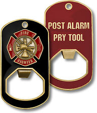 Firefighter Fire Department Pry Tool / Dog Tag Bottle Opener