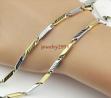new arrival gift for boyfriend stainless steel silver gold tone stick necklace