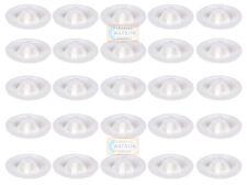 Pack 25 - WHITE SUPATOP Plastic Pozi Head Screw Top Cover Cap Cabinet Furniture