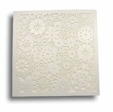 LASER CUT WEDDING INVITATIONS PEARLESCENT FLORAL 'PETALS' INC ENVELOPE & INSERT