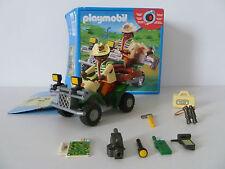 Playmobil 4176 quad expedition avec moteur à retro friction - complet