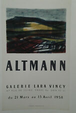 AFFICHE ORIGINALE ANCIENNE EXPOSITION ALTMANN GALERIE LARA VINCY PARIS J BERTO