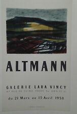 AFFICHE ORIGINALE ANCIENNE EXPOSITION ALTMANN GALERIE LARA VINCY PARIS J BERTO