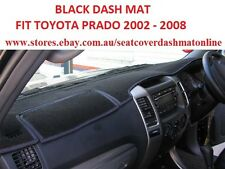 DASH MAT, BLACK DASHMAT, DASHBOARD COVER FIT TOYOTA PRADO 2003 - 2008, BLACK