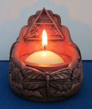 Altar Votive Set Four Elements T-Light Holders Pagan Wiccan Mickie Mueller #VHS