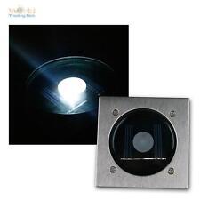 LED solare Faretto da terra CTB angolare frontale in acciaio inox