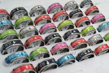 Wholesale Jewelry Lots 12pcs Stainless steel Scriptures Rings free shipping