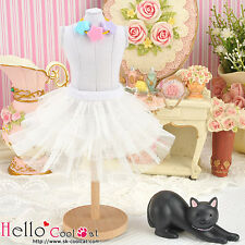 ☆╮Cool Cat╭☆180.【PD-11】Blythe Pullip Tulle Cake Mini Skirt # White