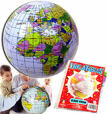 INFLATABLE GLOBE BLOW UP BEACH BALL TOY GIFT BOYS GIRL CHRISTMAS STOCKING FILLER