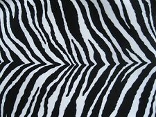 SMOOTH VELVETY ZEBRA PRINT UPHOLSTERY FABRIC BY THE YARD #2