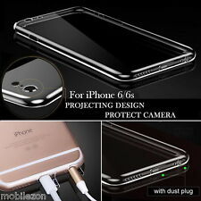 TPU Back Case Cover Full Camera Protection With Dust Plugs For iPhone 6 & 6S