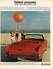 Vintage 1963 Magazine Ad Chrysler Valiant Lowest Priced Convertible Only $2340